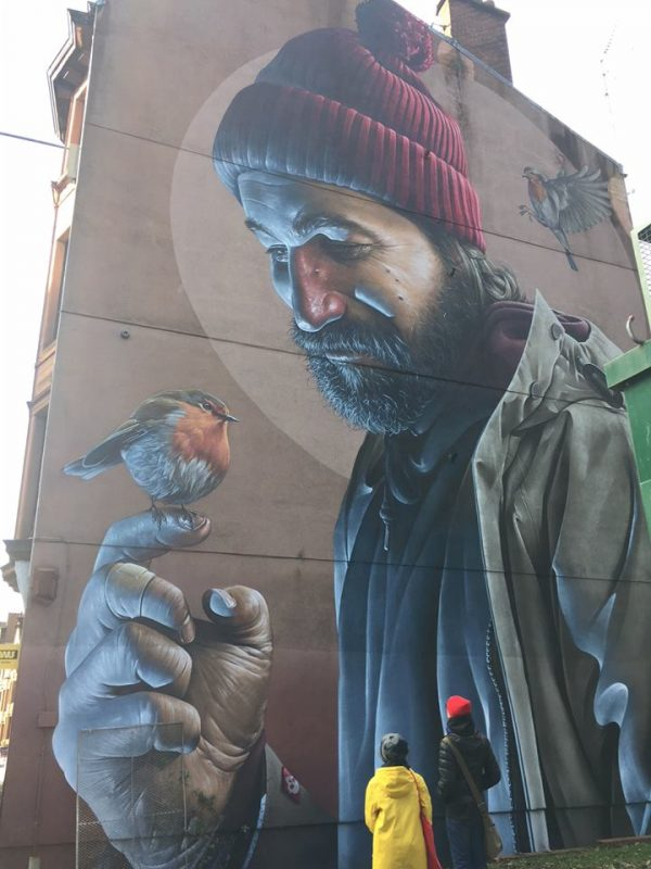 Sam Bates, the urban artist who lives in Glasgow